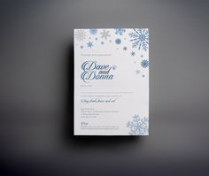 Winter themed wedding stationery designed for a new years eve wedding. The colours were carefully chosen to match the other elements of the day. These were printed onto a metallic silvery polar pearl card. Stationery Design, Wedding Stationery, New Years Eve Weddings, The Marketing, Big Day, Compliments, Metallic, Pearl, This Or That Questions