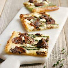 Asparagus Balsamic Mushroom Tart
