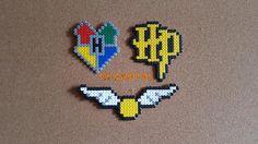 Harry Potter Logo Hogwarts Poudlard Quidditch Pixel Art