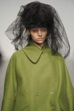 #JohnRocha #AW13 #catwalk #readytowear #LFW #london #fashion #style #green #closeup #detail