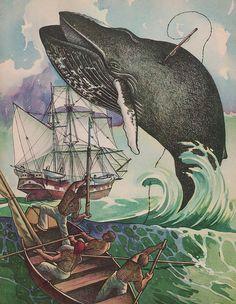 Whaling Scene  by Rudolph Freund