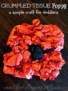 Poppy Crafts & Song for / - simple enough for preschooler Diy Crafts For Kids Easy, Toddler Crafts, Craft Activities For Kids, Preschool Crafts, Motor Activities, Craft Ideas, Paper Plate Poppy Craft, Poppy Craft For Kids, Veterans Day Poppy