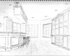 Attractive Lifeu0027s Colorful Brushstrokes: INTERIOR DESIGN   MY PERSPECTIVE DRAWINGS