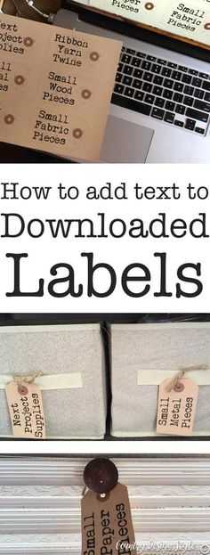 If you don't like your handwriting, here's how to add text to downloaded labels.  Plus download 167 farmhouse style labels | Country Design Style | countrydesignstyle.com #farmhouselabels