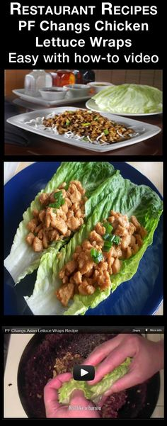 PF Changs Chicken Lettuce Wraps Recipe – one of the most popular appetizers ever concocted. This PF Changs Chicken Lettuce Wraps recipe has wok-seared minced chicken, mushrooms, green onions, and water chestnuts served over crispy rice sticks and served with cool, crisp lettuce cups. There is also a excellent video demonstating how to prepare it. Enjoy! #foods