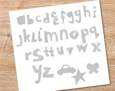CLIP ART Alphabet for silhouette paper cutter and printable posters and cards. jpeg pdf dxf eps png svg