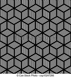 Clip Art Vector of Seamless geometric op art texture - Seamless ...