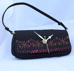 Clock - Evening Bag - Purse - Repurposed Geekery - by Peter Preston (Mists of Time)