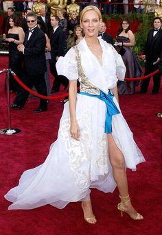 Ума Турман (Uma Thurman) в платье от Кристиана Лакруа (Christian Lacroix), 2004 год
