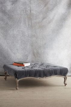 Tufted Viola Ottoman - anthropologie.com