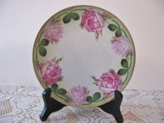 Carlsbad Austria Rose China Plate @ Vintage Touch $8.00