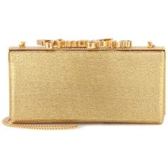 Jimmy Choo Celeste Glitter Clutch ($1,675) ❤ liked on Polyvore featuring bags, handbags, clutches, gold, gold purse, glitter purse, glitter handbags, beige handbags and jimmy choo
