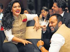 Kajol, Shah Rukh Khan And Rohit Shetty's rare picture at an event!