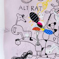 Alt Rat collage in progress   Oodlies Abstract Art Australia by Joi Murugavell
