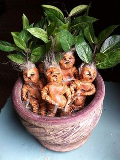 Mandrake Doll Mandragora Figurine Harry Potter by oldcityartmaker, $12.00- Ahahaha! This is awesome!
