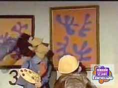 Sesame Street characters look at Matisse images and add numbers to indicate the number of shapes in each image. Good art-math integration for primary students.