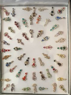 Bindis can be reused with eyelash glue. The crystals are beautiful and sparkly. NO Return. NO Exchange. Body Jewelry, Jewelry Art, Jewellery, Third Eye Piercing, Rangoli Designs Flower, Nose Ring Stud, Baubles And Beads, Imitation Jewelry, Bindi