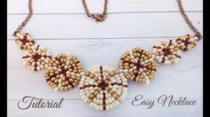 Easy and elegant necklace with peyote stitch - tutorial