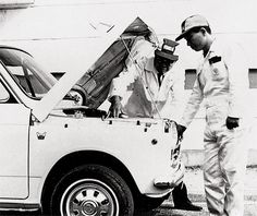 Honda Motor Co. Honda Global Site - The official Honda global web site for information on Honda Motor and its subsidiaries and affiliates. Soichiro Honda, Honda Motors, Vintage Japanese, Vintage Cars, History, Historia, Classic Cars, Retro Cars