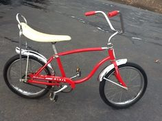 Vintage Red Schwinn Pixie Bicycle... Very Cool With Banana Seat & Sissy Bar!