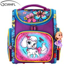 d94c501f178 Orthopedic Backpacks Children Primary School Bags Girls Cartoon 3D Backpack  School Knapsack Boy Kids Book Bag