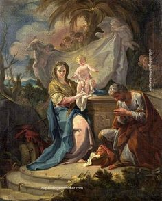 Corrado Giaquinto The Rest on the Flight into Egypt, painting Authorized official website