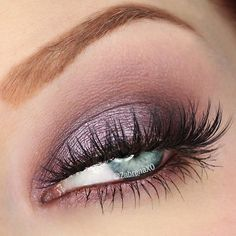 To create this look with Too Faced Chocolate Bon Bons:  Almond Truffle (crease and lower lash line)  Black Currant (inner, outer third of lid; deepen crease and smudge along lower lash line)  Cotton Candy (applied wet to middle of lid)  Lashes: Moonlight Dancing @inkyminkylashes