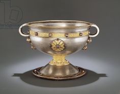 The Ardagh Chalice, Reerasta, County Limerick, early 8th century (silver with silver gilding, enamel, brass and bronze) (