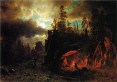 Albert Bierstadt - The Trapper's Camp