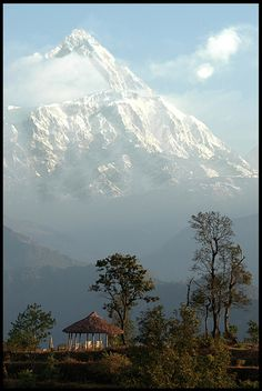 Pokhara Nepal by Ronald Coulter - I must go, but I will need an oxygen tank!