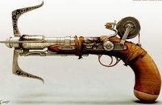 Steampunk grapple gun