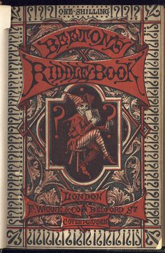 Beeton's Riddle Book. Upper paper cover. This British Library copy is at shelf mark 12305bb27