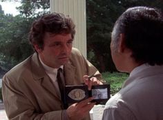 If you zoom in far enough, this is a scene where the badge shows Lt. Columbo's first name: Frank. It fits him, doesn't it?