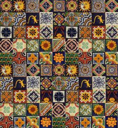 100-Mexican-Talavera-TILES-Different-Patterns-4x4-Clay