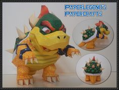 This papercraft is the Bowser, based on thegameSuper Mario 64 of the Super Mario series, the paper model was created by Paperlegend. King Bowser Koopa (i
