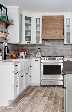 Casual farmhouse kitchen style inspired this updated version with the latest features.