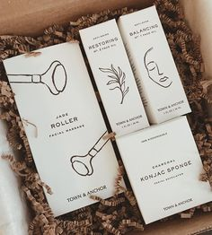 TOWN & ANCHOR: black and white + minimalism … - Peregrine. Packaging Box Design, Pretty Packaging, Brand Packaging, Product Packaging, Product Branding, Jewellery Packaging, Branding Ideas, Mockup Design, Label Design