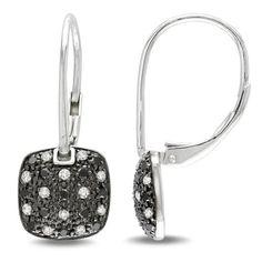 Sterling Silver 1/2 CT TDW Black and White Diamond Dangle Earrings (G-H, I3) Amour, http://www.amazon.com/dp/B0068P4FJS/ref=cm_sw_r_pi_dp_dG0krb128EGJN