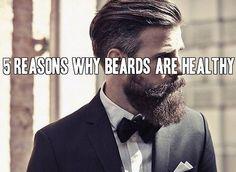 5 Reasons Why Beards Are Healthy at beardoholic.com