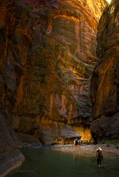Narrows at the Bend - Zion National Park by Binh Pham)