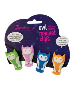 Another great find on #zulily! Owl Magnetic Miniclip Set by Boston Warehouse #zulilyfinds