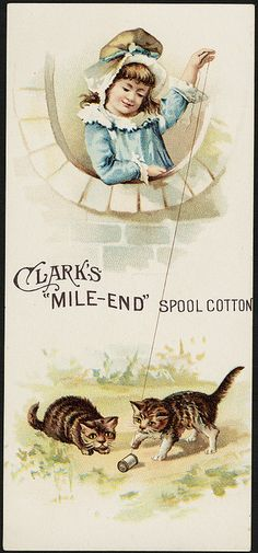 Clark's 'Mile-End' spool cotton [front] | Flickr : partage de photos !