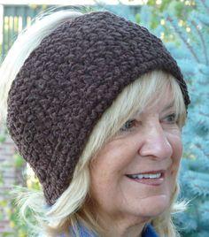 Headband Brown Woman Crochet Youth Tennis Winter by hatsbyanne1942, $25.00