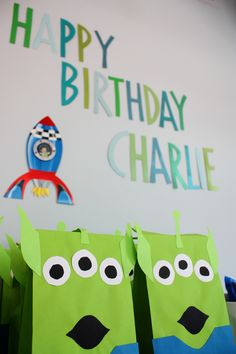Hand-made Toy story birthday party favor bags