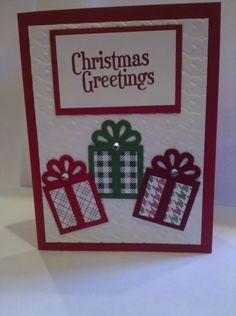 It's never too early for Christmas!  This was a quick and easy card to make.
