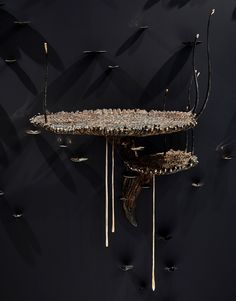 Polydolichodactyl Muralis (Floating Shelf) Patinated bronze 90 x 64 x 130 cm Edition of 5 + 1 AP Kenyan Artists, V&a Waterfront, Stained Table, Led Fixtures, Black Clay, Stoneware Clay, Crystal Ball, Water Features, White Ceramics