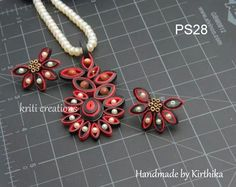 quilled jewelry --nice colors