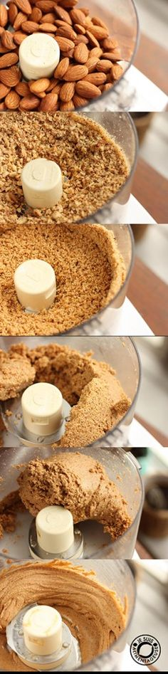 Butter - Je suis alimentageuse Easy homemade nut butter in under 10 minutes. Never going back to storebought again!Easy homemade nut butter in under 10 minutes. Never going back to storebought again! Whole Food Recipes, Vegan Recipes, Cooking Recipes, Patisserie Sans Gluten, Breakfast Desayunos, Diy Food, Food Hacks, Love Food, Food Processor Recipes