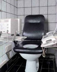 Bathroom Humor: The Executive, for the business man on the go...