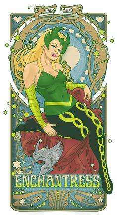Enchantress Nouveau by *hezaa on deviantART